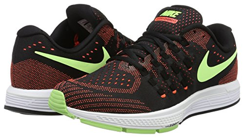 Nike Mens Air Zoom Vomero 11 Scarpe Da Corsa Nero / Verde Fantasma-iper Arancio-bianco