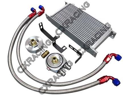 cxracing línea de temperatura de aceite externa Sandwiche Kit para 14 15 Subaru Wrx 2.0L fa20dit Motor Turbo: Amazon.es: Coche y moto