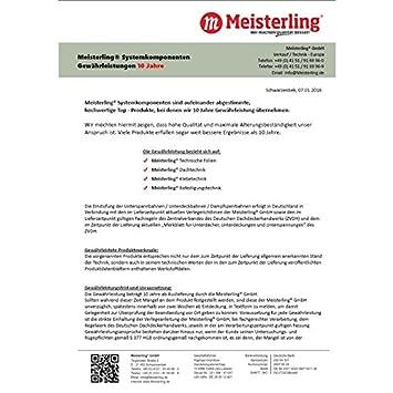 45 mm Breite x 30 m Rollen Meisterling/® Schaum-Nageldicht-Band//Dichtband