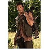 #5: Norman Reedus in The Walking Dead as Daryl Dixon Dressed in Brown Cutoff Shirt and Vest with Knife and Bow and Arrow 8 x 10 Inch Photo