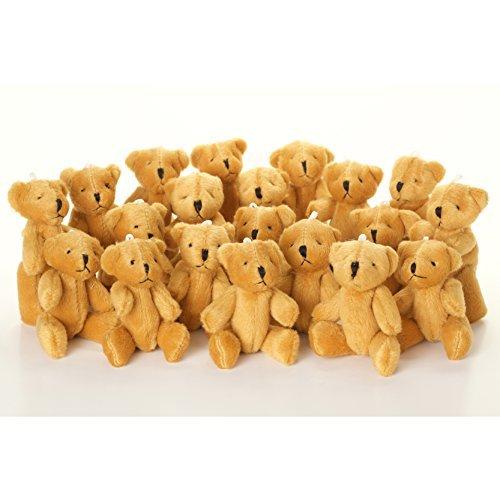 New 20 X Cute and Cuddly Little Brown Teddy Bear - Gift Present Birthday Xmas