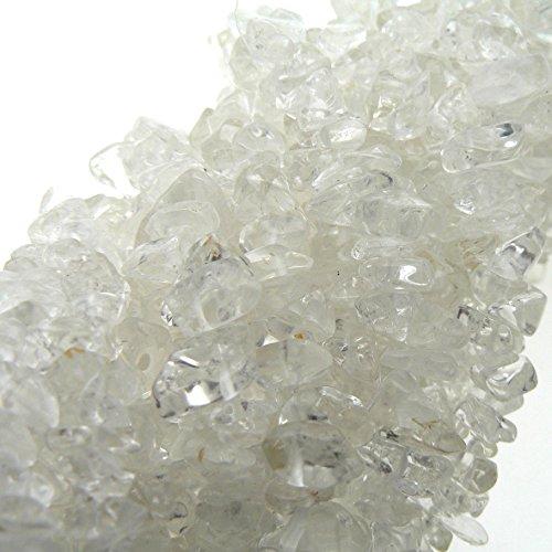 (Ratnagarbha White Topaz Gemstone Nuggets Uncut Chips Loose Beads, 34