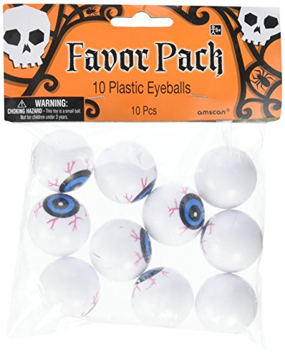 Amscan Family Friendly Halloween Trick or Treat Creepy Eyeballs Party Favour, Plastic, 1