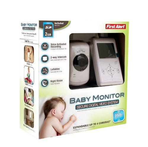 First Alert DWB-740 Indoor 2.5-Inch LCD Monitor 2.4-Gigahertz Digital Wireless Family Surveillance Camera