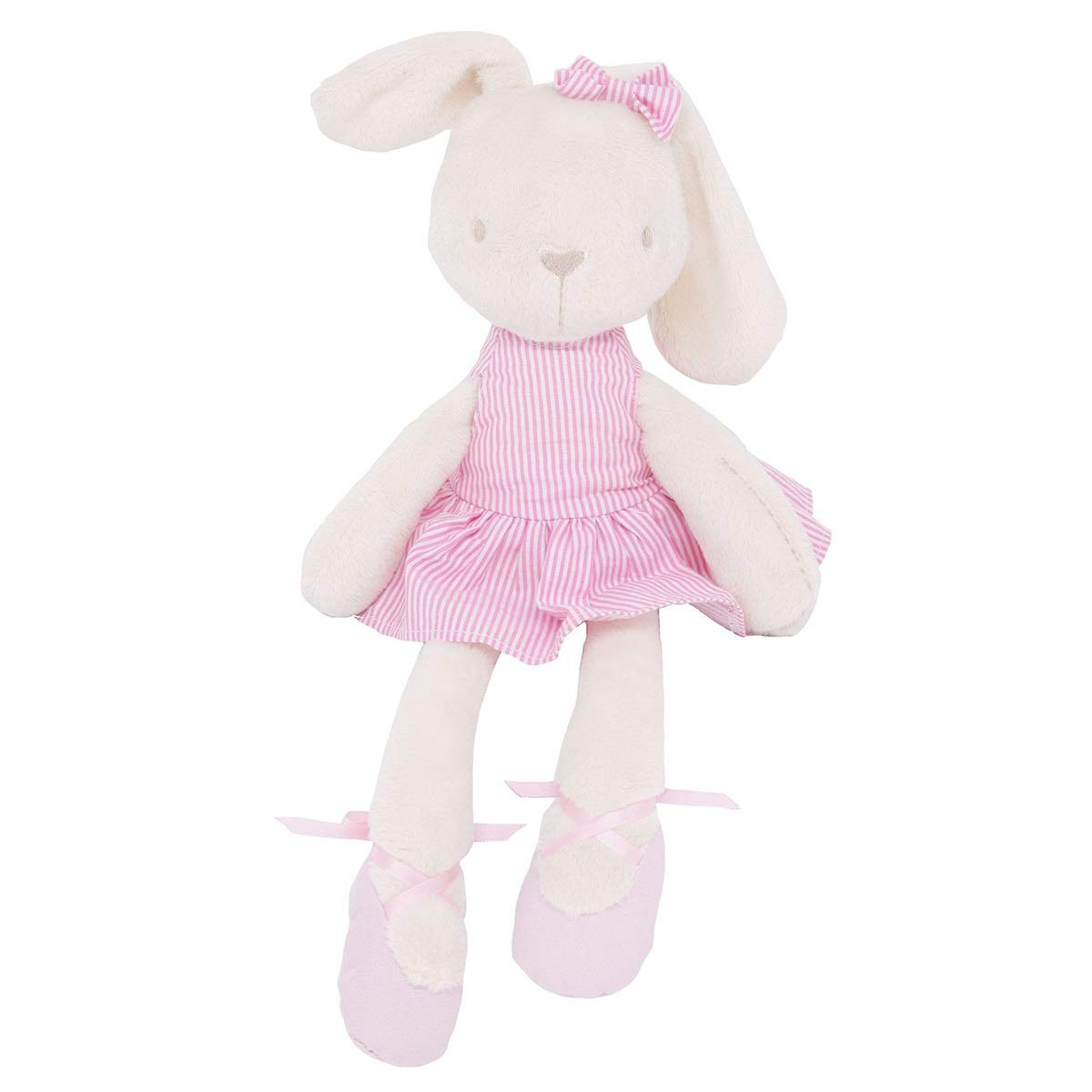 45cm Cute Rabbit Soft Plush Dress Rabbits Bunny Doll Soothing Toy Baby Pacifier Sleep Friend Girls Gift (Color : Light Green) Tabpole