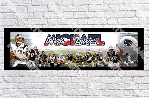 Personalized / Customized New England Patriots #2 Name Poster with Border Mat- Home Wall Decor Birthday Party Door Banner (New England Patriots Wall Border)