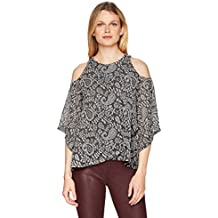 Lucky Brand Women's Cold Shoulder Open Front Top