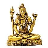 Gangesindia Hindu God Lord Shiva in Meditation Brass Statue