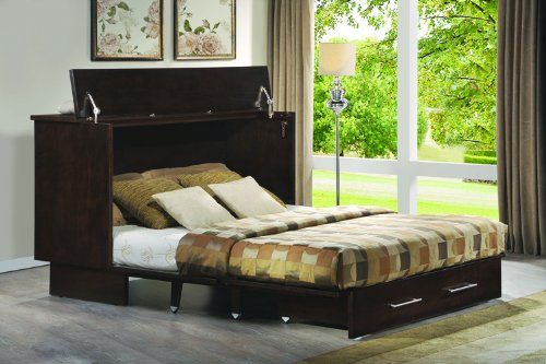 Arason Enterprises Creden-ZzZ Cabinet Bed in Original Coffee - Queen Size