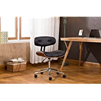 Porthos Home Dallas Adjustable Office Chair , Black