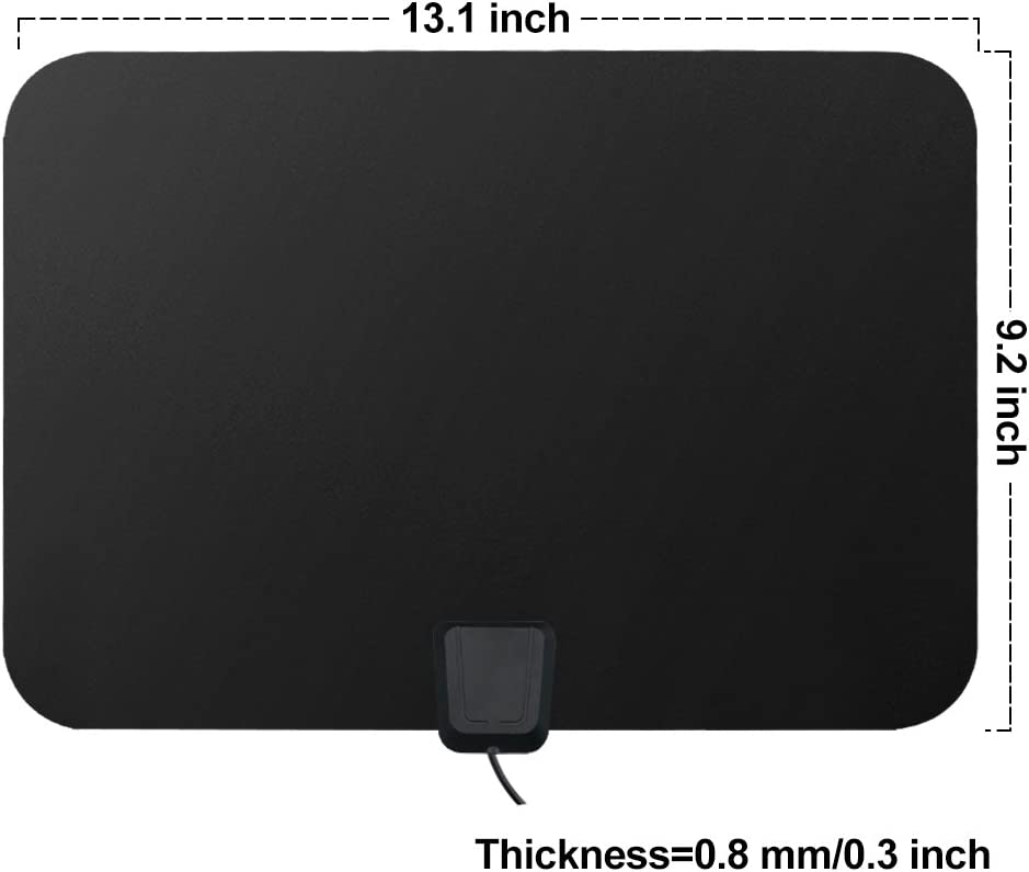 Support 1080p 4K and All Older TVs High Performance 16.5 Feets Coaxial Cable Power Adapter HDTV Antenna Indoor Digital 60-80 Miles Long Range TV Antenna with 2018 Newest Amplifier Signal Booster