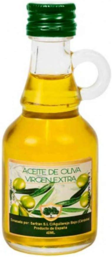 Lote de 15 Botellas con Asa Cristal Mini de Aceite de Oliva