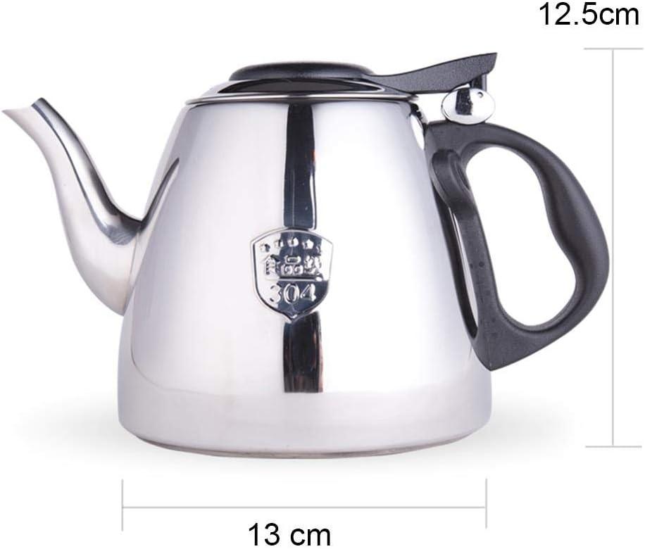 Tetera Cafetera teteras tetera silbando té caldera casa ayudante de cocina induccion astilla agua fría pot 1200ML, La luz brillante: Amazon.es: Hogar