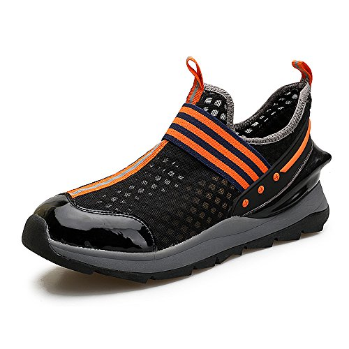 EnllerviiD Mens Slip On Casual Fashion Sneakers Light Weight Breathable Athletic Gym Sports Shoes 8358 Black cb8yZhersR