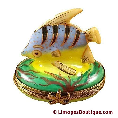 - BLUE FISH - LIMOGES BOX AUTHENTIC PORCELAIN FIGURINE FROM FRANCE