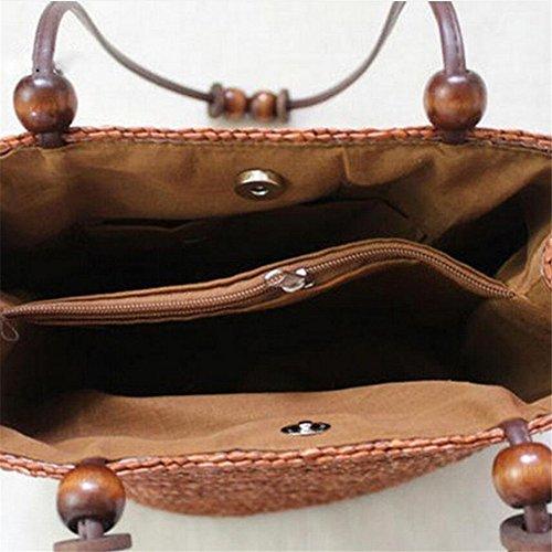 Straw Meaeo Bolsos Beach Women Bag Fashion Big Bags Summer Bags Tote Shoulder Bag Stripes RZqdwCUgZ