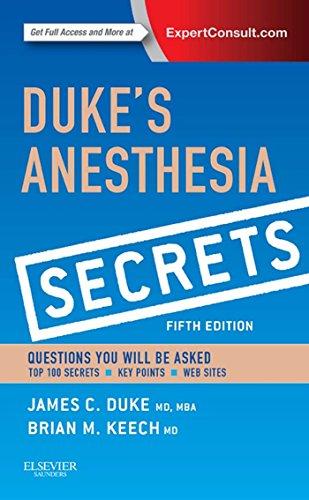Duke's Anesthesia Secrets Pdf