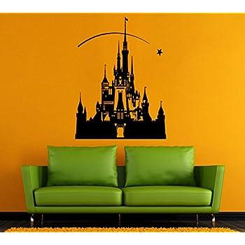 Disney Castle Wall Vinyl Decal Castle Wall Vinyl Sticker Disneyland Wall  Decals Wall Vinyl Decor / Part 89