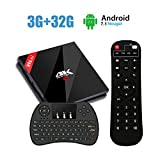 EstgoSZ H96 pro Android 7.1 TV Box 3GB RAM 32G ROM with Wireless Keyboard, 2018 Model H96 Pro Plus Amlogic S912 Octa Core Android TV Box with Dual WiFi Bluetooth 4.1 1000M LAN
