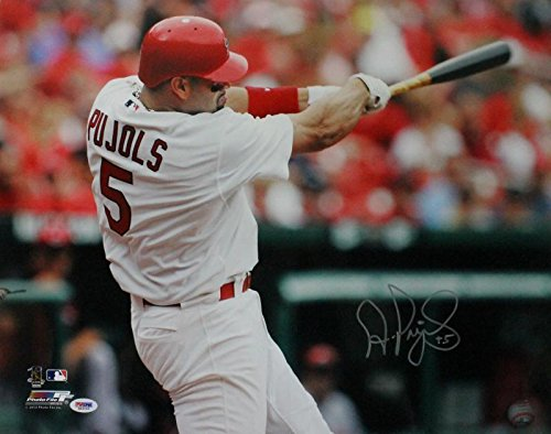 Albert Pujols Signed Photograph - 16x20#m64095 - PSA/DNA Certified - Autographed MLB Photos