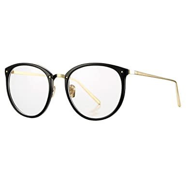 Vintage Round Optical Glasses Frame Hipster Non Prescription Retro Oval  Eyewear With Clear Lens For