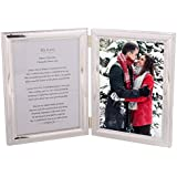 Romantic Valentine Picture Frame for Husband, Wife, Boyfriend or Girlfriend - Heartfelt Poem + Your Photo in a Beautiful Silver-Plated Double Picture Frame. A Great Present for The one You Love!