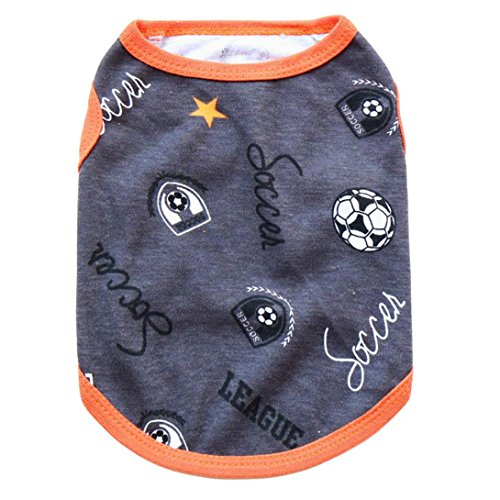 Pet Clothes,Elevin(TM)Warm Cute Puppy Dog Soccer Basketball Sporty Cotton Sleeveless Vest Shirt Pet Supplies Clothes Apparel Outwear Costume (M, B)