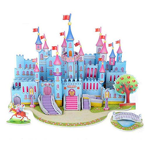 Amaping Baby Girl Princess Dolls Castle 3D Paper Puzzle Jigsaw Early Learning Construction Assemble Toy Children Gift (Romantic Castle) -