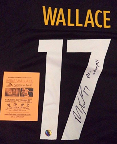 Autographed Mike Wallace Jersey - Afc Champs!! W coa - Autographed NFL Jerseys