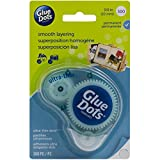 Glue Dots Clear Dot Disposable Dispenser-Ultra Thin .375'' 300/Pkg