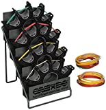CanDo 10-0757 Digi-Extend Hand Exerciser, Metal Rack, 4 Exercises with 64 Bands Tan/Yellow/Red/Green