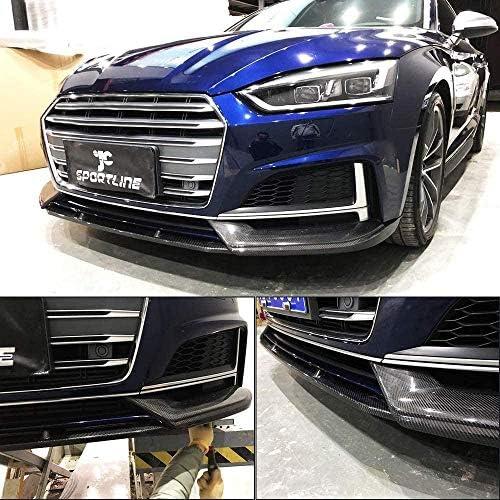 カーボンフロントリップフィットアウディA5-Sline S5 2017 2018あごスポイラーフロントバンパーリップスポイラーあごスプリッター工場販売3ピース/セット