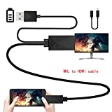 Geekercity MHL Micro USB to Hdmi Adapter Converter Cable 1080p HDTV for Samsung Galaxy S2 S3 S4 S4 Active S5 Note 2 3 4 8 Edge HTC M8 HTC One Xiaomi Phone 2 Other Android Devices 11 Pin & 5 Pin