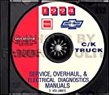 ABSOLUTE BEST 1994 CHEVY TRUCK & PICKUP REPAIR SHOP & SERVICE MANUAL CD For C/K Trucks, Silverado, Cheyenne, Suburban, Blazer Plus Crew & Extended Cab 1500, 2500, 3500