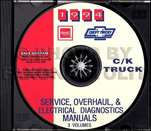ABSOLUTE BEST 1994 CHEVY TRUCK & PICKUP REPAIR SHOP & SERVICE MANUAL CD For C/K Trucks, Silverado, Cheyenne, Suburban, Blazer Plus Crew & Extended Cab 1500, 2500, 3500