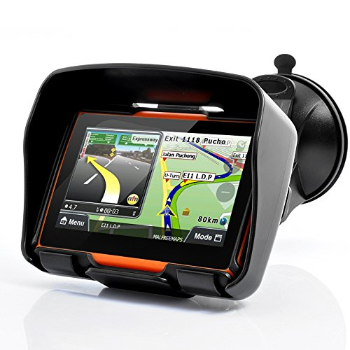 All Terrain 4.3 Inch Motorcycle GPS Navigation System 'Rage' - Waterproof, 4GB Internal Memory, Bluetooth
