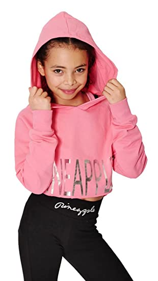 12190a692 Pineapple DANCEWEAR GIRLS Long Sleeved Dance Hoodie Pink with Silver ...