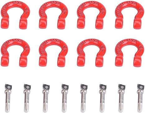Sugoyi 8PCS RC Tow Grillete, Aluminio Metal Ligero RC Lock ...