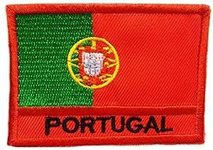Parches - Portugal bandera - rojo - 7.5x5.3cm - termoadhesivos bordados aplique para ropa