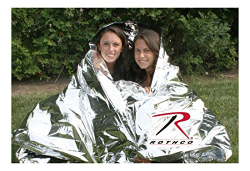 (Two 2 Person Polarshield Survival Emergency Trauma Space Camping Hiking Blanket)
