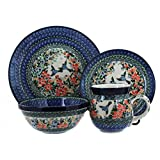 Polish Pottery Maria 4 PC Dinner Set