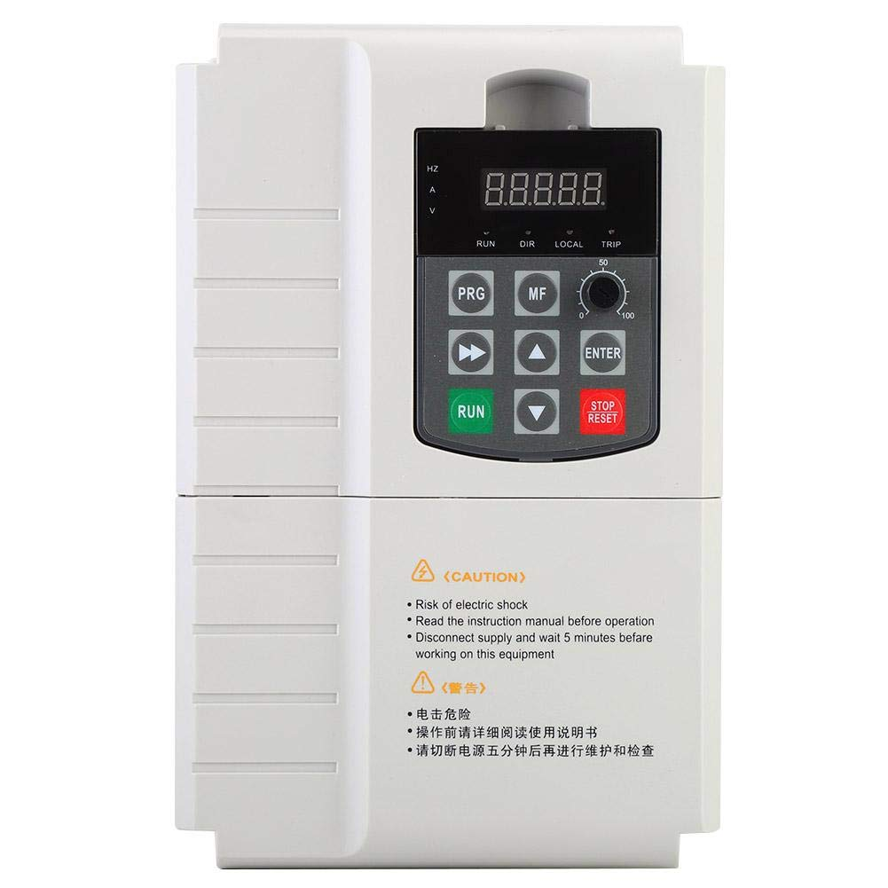 3-Phase Inverter Heavy Duty Built-in PID Controller 6 Types for Asynchronous Synchronous Motor 380V(11KW) by Qinlorgo