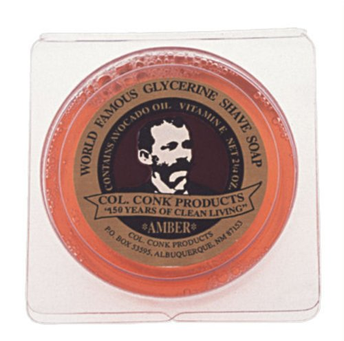Colonel Conk Glycerin Shave Soap Amber (106g)