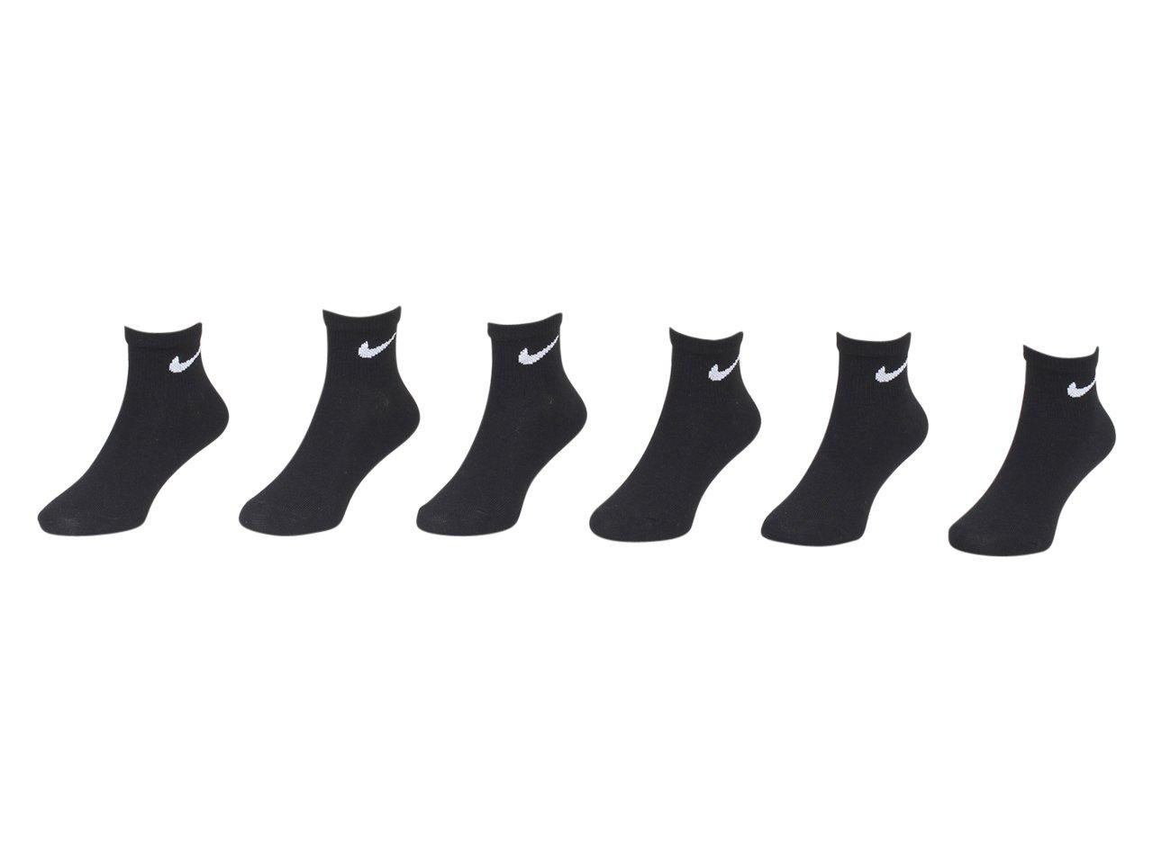 6 Pairs ,13C-3Y Shoe// 6-7 Sock NIKE Young Athletes Kids Quarter Cut Socks