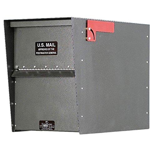 Jayco LLA3RRSTD Standard Rear Access Aluminum Letter Locker Mailbox Gray