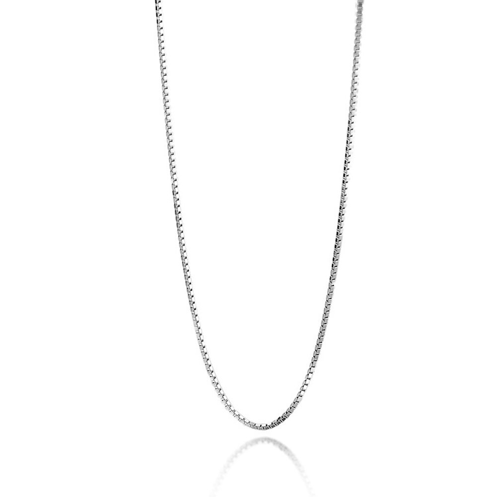 Youlixuess Jewelry 1.5mm Titanium Steel Box Chain Silver Chain Necklaces for Women Girl 16-30