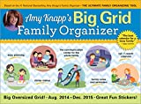 2015 Amy Knapp's Big Grid Family Wall Calendar: The essential organization and communication tool for the entire family