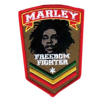 Bob Marley Fighter (Bob Marley - Fighter unisex-adult Patch in NA, Size: O/S, Color: Assorted)
