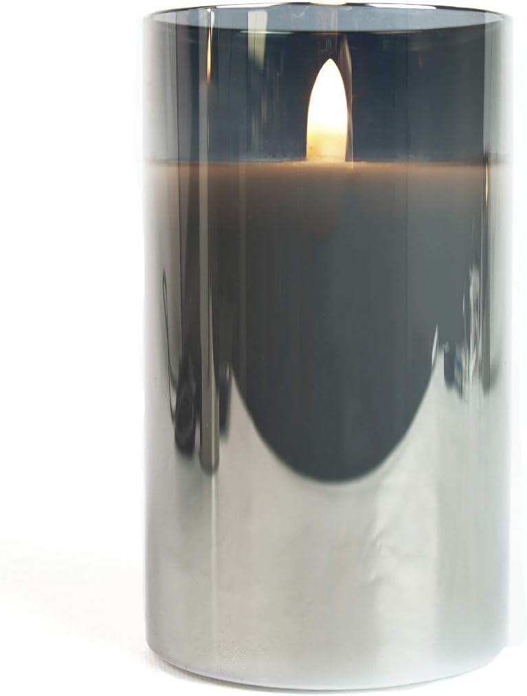 S//M//L EXKLUSIV Cremefarben batteriebetrieben unglaublich echte Flamme mit brennenden Dochteffekt Weltneuheit 2019 Festive Lights Echtwachs LED Kerze mit 3D-Echtflammen-Effekt 3er Pack