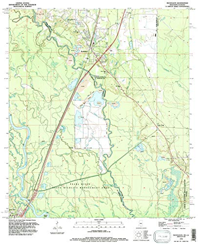 YellowMaps Nicholson MS topo map, 1:24000 Scale, 7.5 X 7.5 Minute, Historical, 1993, Updated 1995, 26.6 x 21.6 in - Tyvek ()